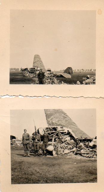 Konvolut-2-x-Foto-Luftwaffe-Russland-Ostfront-Zerst-rte
