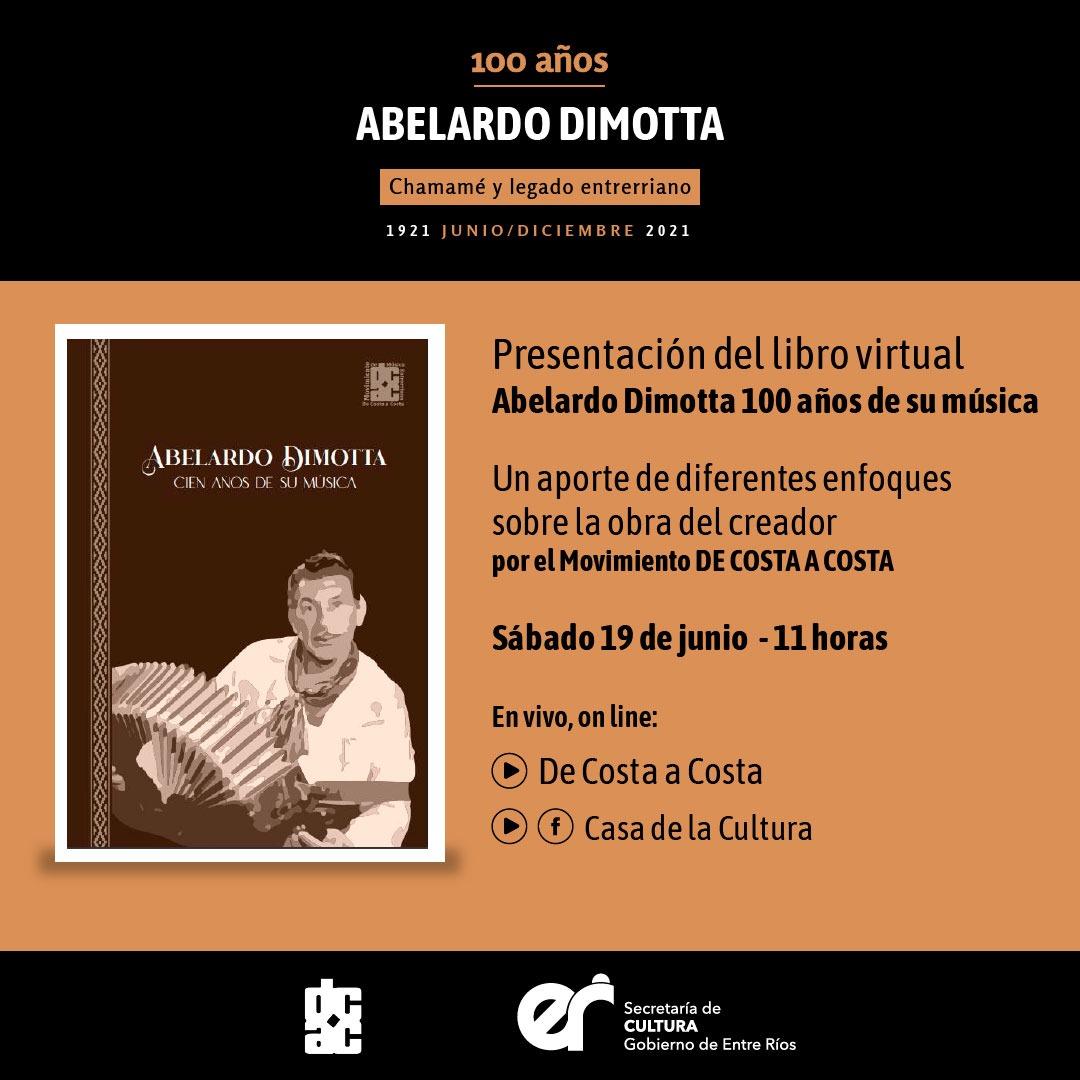 Presentan un libro digital sobre Abelardo Dimotta