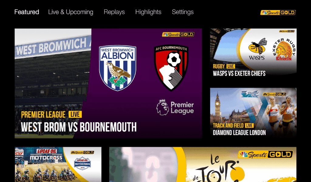 Watch Live Sports Platform