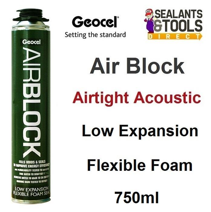 Geocel AirBlock B2 Fire Rated Air Tight Acoustic Expanding Foam 750ml