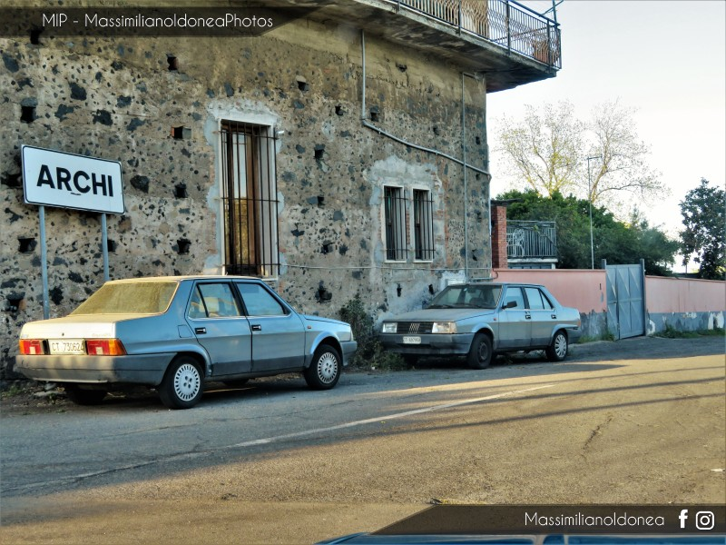 avvistamenti auto storiche - Pagina 19 Fiat-Regata-70-S-1-3-65cv-86-CT730624-82-759-28-7-2017-e-Fiat-Regata-70-1-3-65cv-85-CT697958