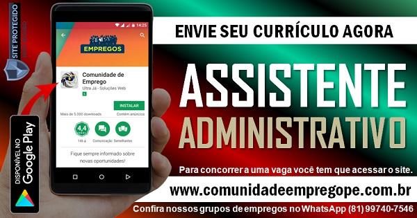 ASSISTENTE ADMINISTRATIVO COM SALÁRIO DE R$ 1600,00 PARA EMPRESA DE ALIMENTOS