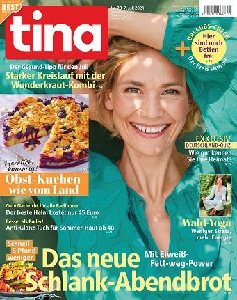 Cover: Tina Frauenmagazin No 28 vom 07  Juli 2021