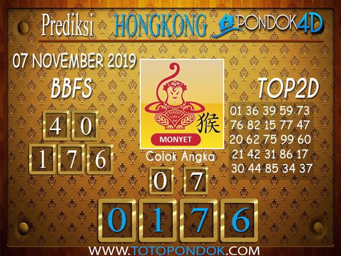 Prediksi Togel HONGKONG PONDOK4D 07 NOVEMBER 2019