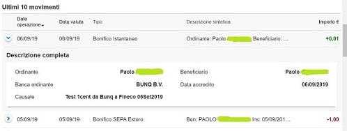 Bunq! 3 Bellissime carte +Bonifici Istantanei e 25 IBAN usa e getta INCLUSI + PROMO 10,00 € DI APERTURA 2019-Set06-bonificoistantaneo1r-PIUPICCOLO