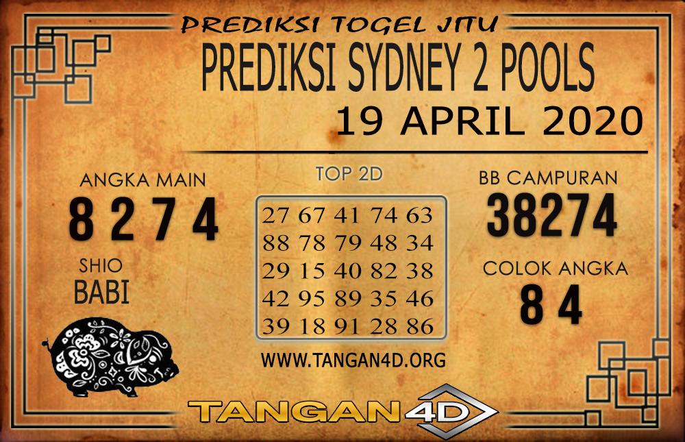 PREDIKSI TOGEL SYDNEY 2 TANGAN4D 19 APRIL 2020