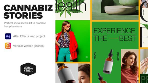 Vertical Cannabiz Hemp Product Business Stories 33961101 - Project for After Effects (Videohive)