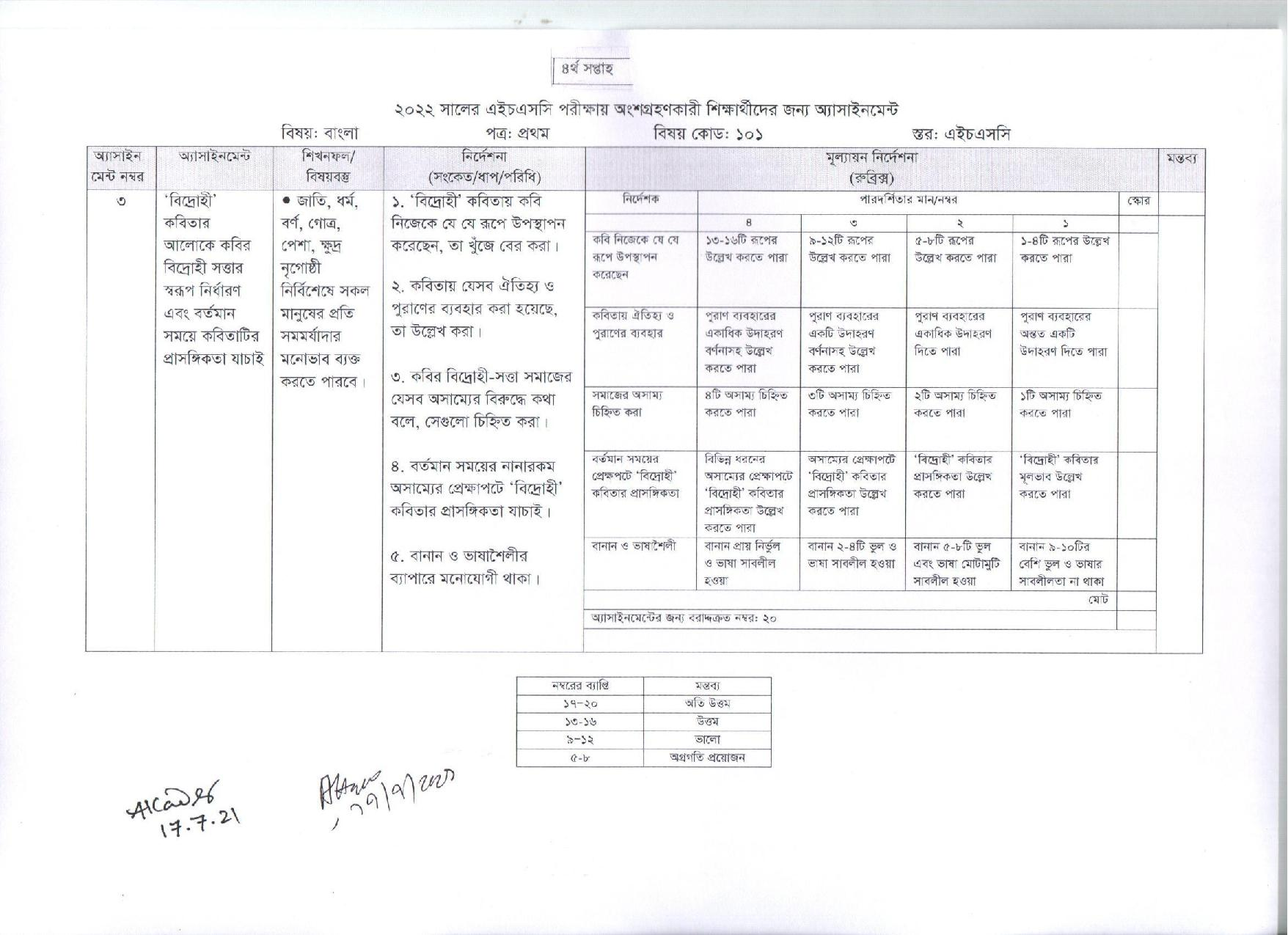 hsc-2022-4th-week-assingment-bangla