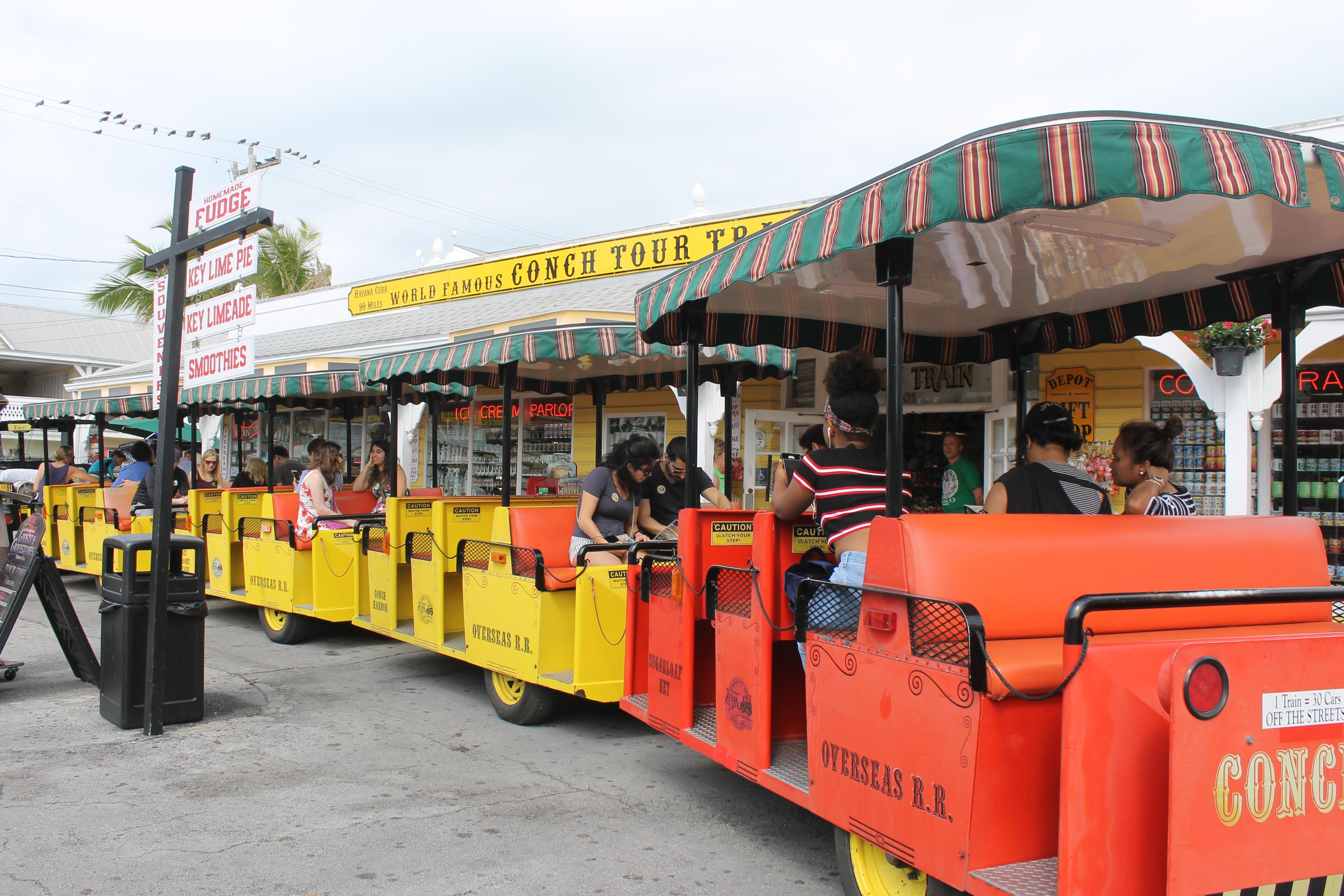 Train tours at Key West, Florida