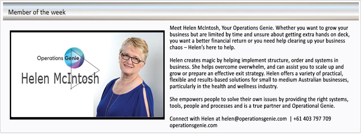 Operations Genie Helen McInstosh Business Book