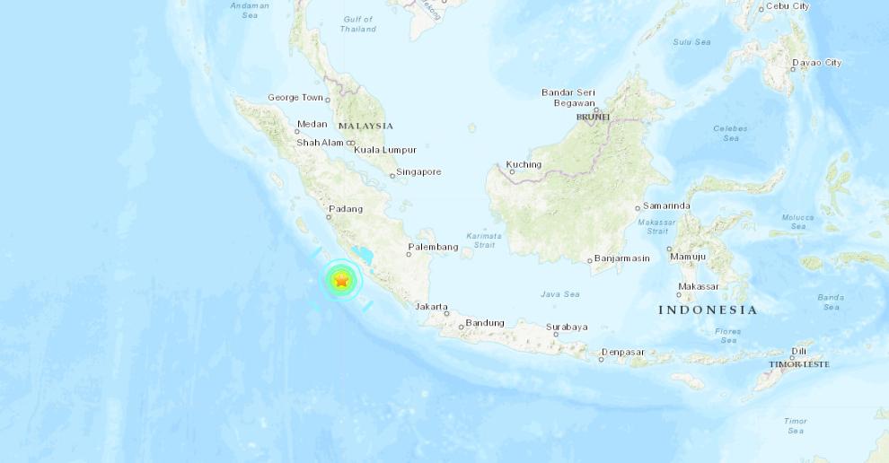 Terremoto Sumatra: 2 Violenti Sisma M6,8 e M6,9 davanti a Bengkulu (Indonesia).