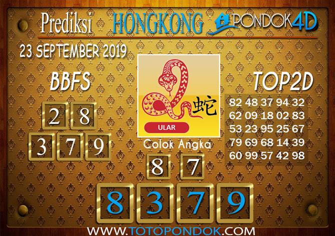 Prediksi Togel HONGKONG PONDOK4D 23 SEPTEMBER 2019