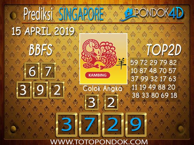 Prediksi Togel SINGAPORE PONDOK4D 15 APRIL 2019