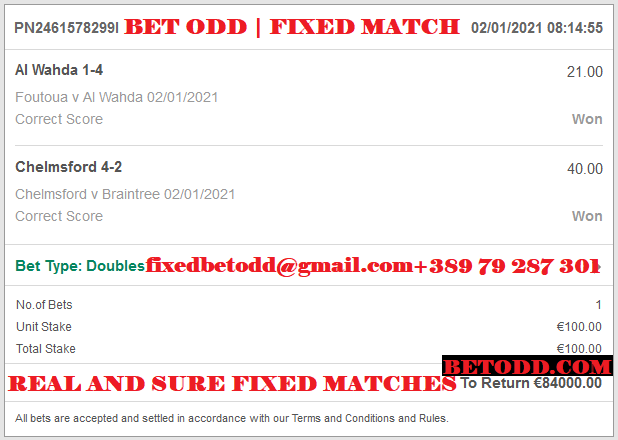 BET ODD - REAL AND SURE FIXED MATCHES