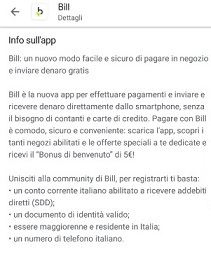 Bill SisalPay Bill (App italiana di SisalPay) €5,00 subito + €5,00 se invitato + €5,00 ogni invito [scadenza 31/07/2021] - Pagina 3 0-Guida-Bill