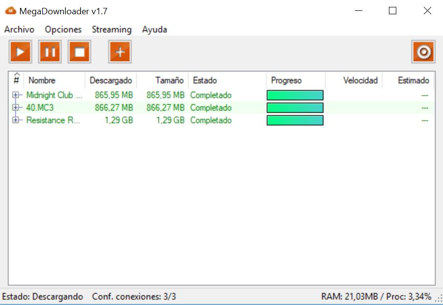 Para poder descargar archivos de MEGA sin límites, usaremos este programa.
