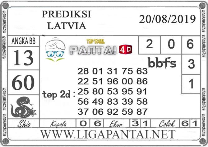 "PREDIKSI TOGEL ""LATVIA"" PANTAI4D 20 AGUSTUS 2019"