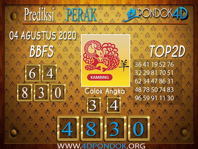 Prediksi Togel PERAK PONDOK4D 04 AGUSTUS 2020