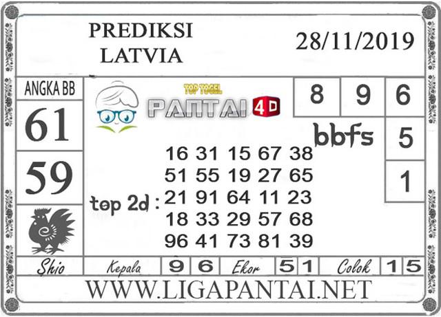 PREDIKSI TOGEL LATVIA PANTAI4D 28 NOVEMBER 2019