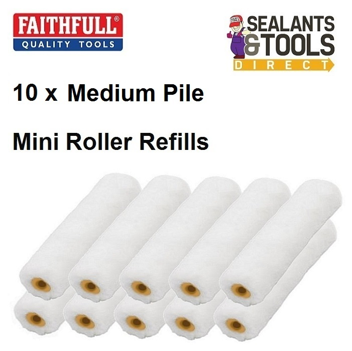 10-Medium-pile-Mini-Roller-Refills-100mm