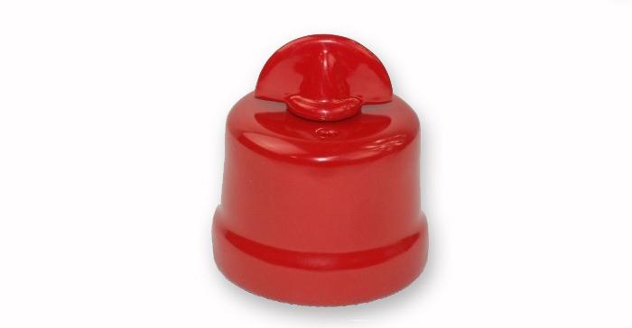 Czerwony włącznik retro