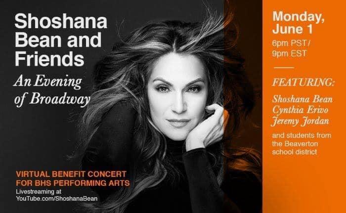 Shoshana Bean and Friends concert on 1st June