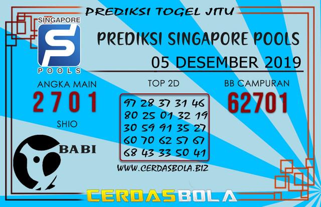 "Prediksi Togel ""SINGAPORE"" CERDASBOLA 05 DESEMBER 2019"
