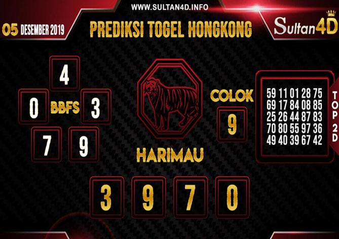 PREDIKSI TOGEL HONGKONG SULTAN4D 05 DESEMBER 2019