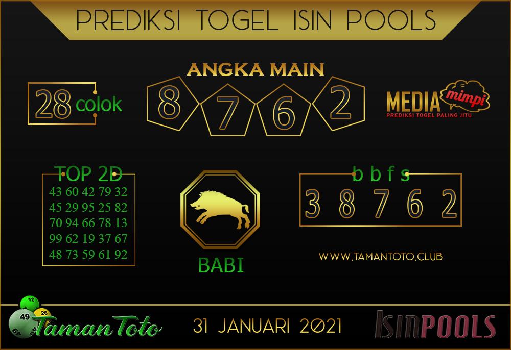 Prediksi Togel ISIN TAMAN TOTO 01 FEBRUARI 2021