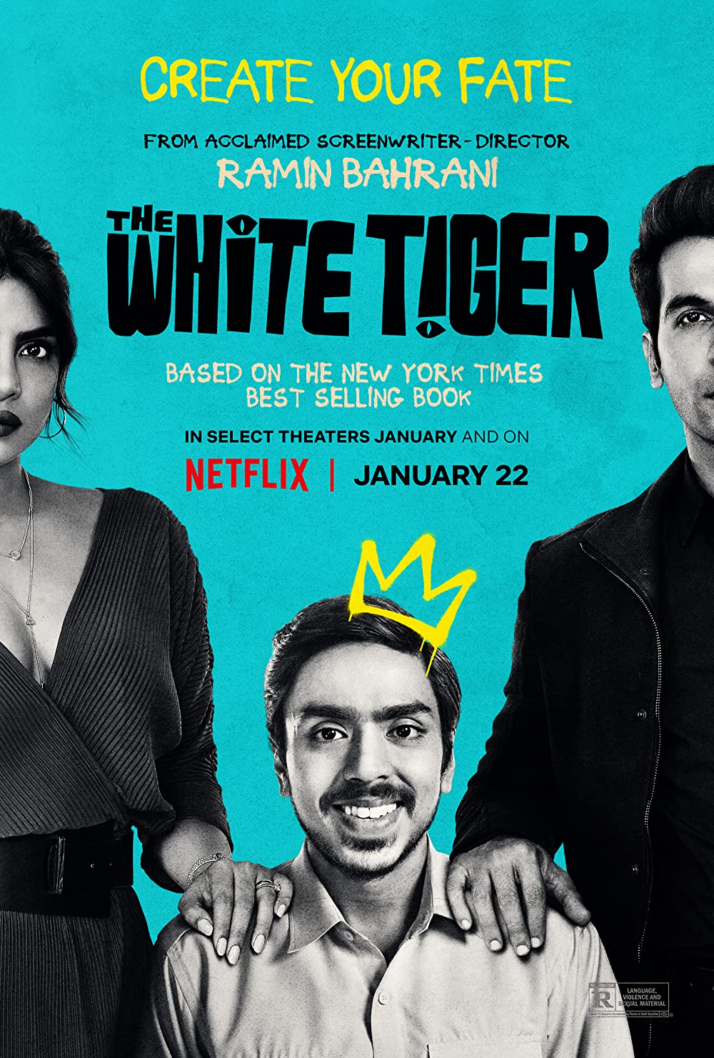 The White Tiger (2021) Hindi 480p HDRip x264 AAC 400MB ESub
