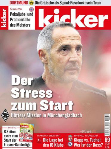 Cover: Kicker Sportmagazin No 69 vom 26  August 2021