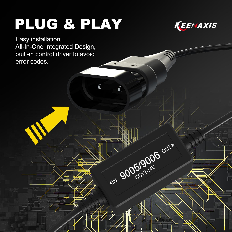 9006 60W 12000LM LED Low Beam Headlights Conversion Kit