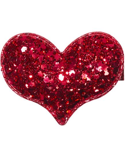Anna Belen Olivia Glitter Heart Hair Clip