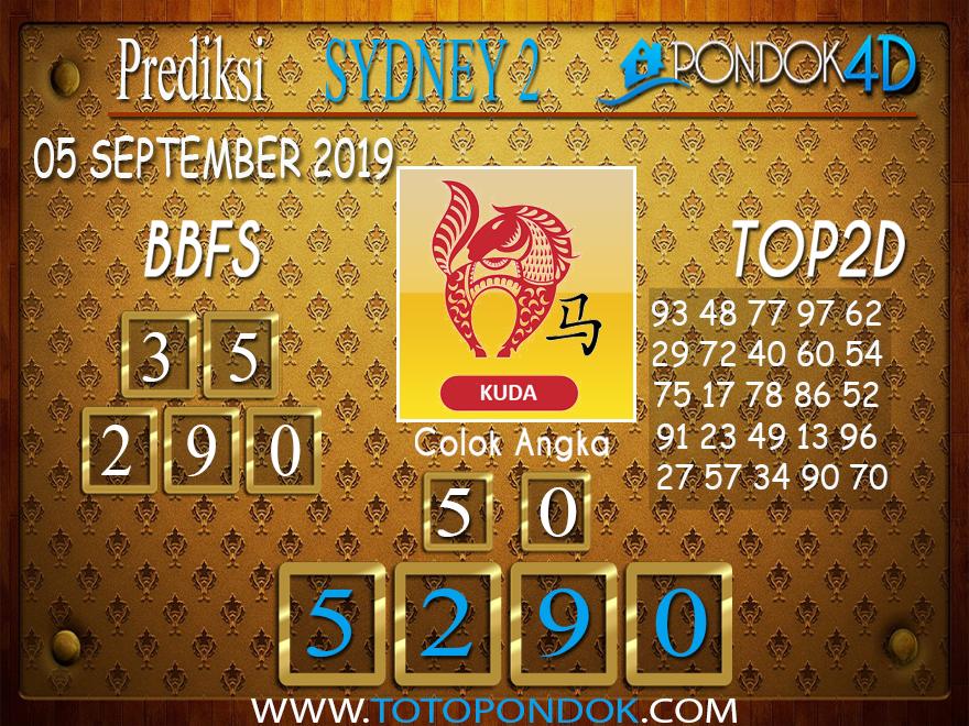 Prediksi Togel SYDNEY 2 PONDOK4D 05 SEPTEMBER 2019