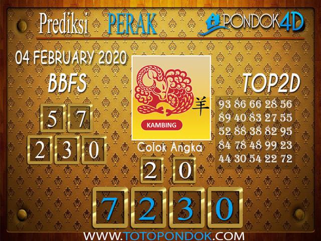 Prediksi Togel PERAK PONDOK4D 04 FEBRUARY 2020