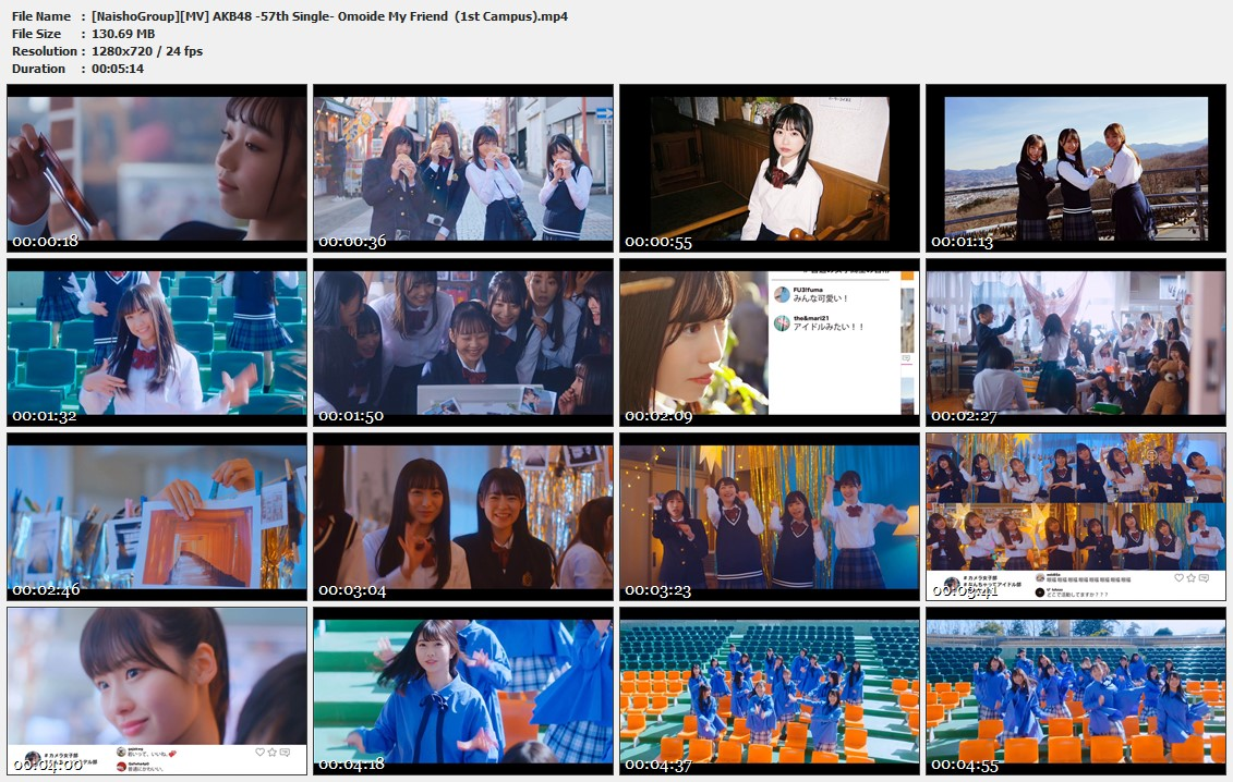 Naisho-Group-MV-AKB48-57th-Single-Omoide-My-Friend-1st-Campus-mp4