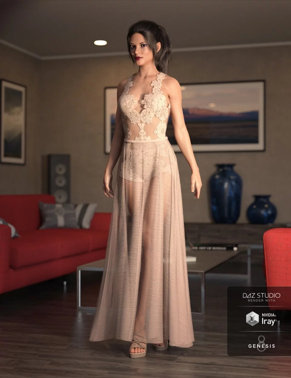 dForce Chantilly Chic Outfit for Genesis 8 Female(s) + Textures