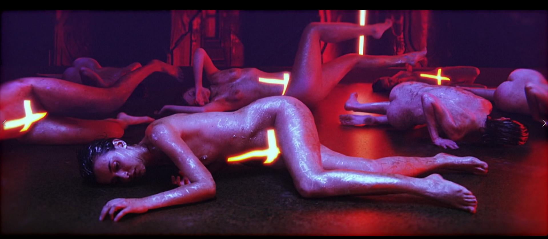 Naked Action Girl Martina Fox As A Red Hotrod Babe