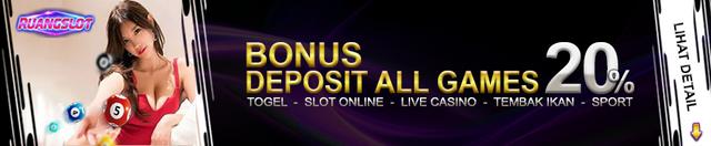 bonus deposit all games 20%