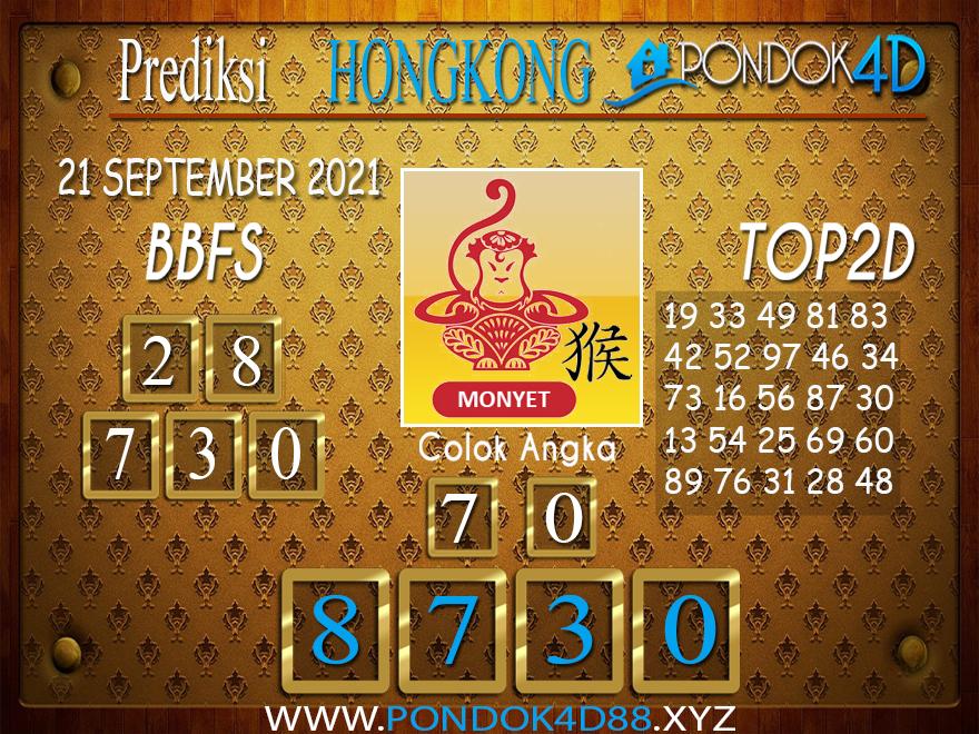 Prediksi Togel HONGKONG PONDOK4D 21 SEPTEMBER 2021