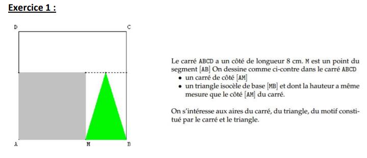 carré ABCD