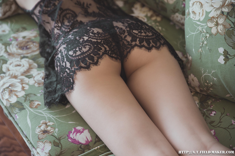 Tsubaki Album vol.006 Sheer lace pajamas 怠いお昼のパジャマ少女 sexy-nightdress-14