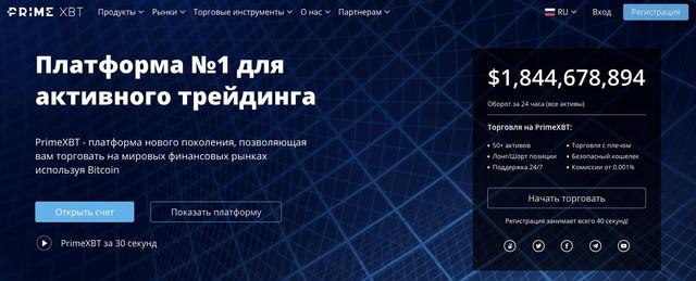 Prime XBT: обзор торговой платформы