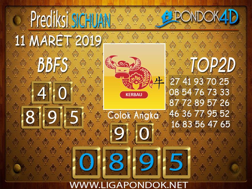 Prediksi Togel  SICHUAN  PONDOK4D 11 MARET 2019