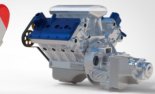 ВАЗ-V8. Восьмицилиндровый из двух вазовских. Vaz-1