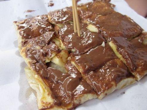thai banana pancake krim coklat dari thailand
