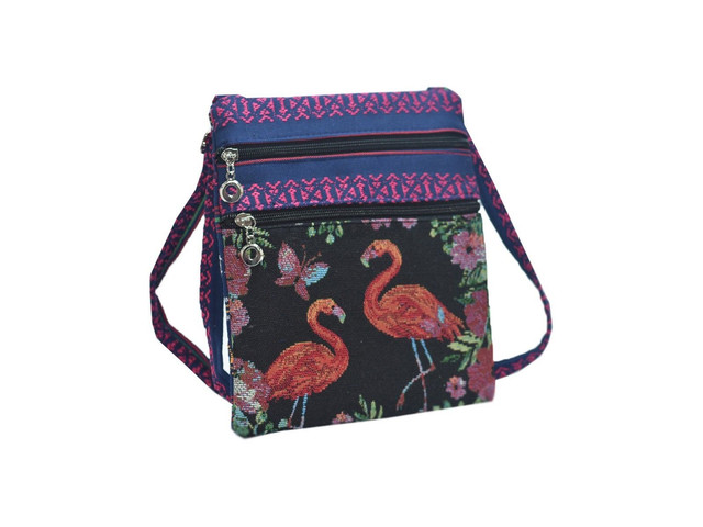 Details about Ladies New Animal Design Embroidered Side Cross Body Shoulder Bag in 2 Designs