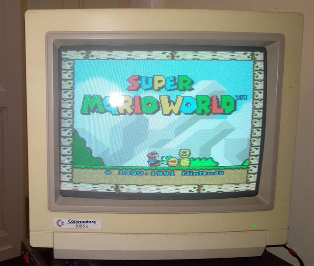 Vous jouer sur quel type ecran sur 16bit ? : ) - Page 2 SNES-Commodore