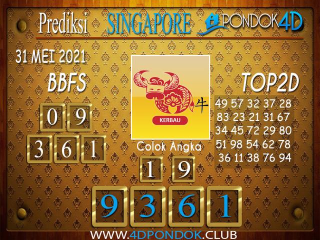 Prediksi Togel SINGAPORE PONDOK4D 31 MEI 2021