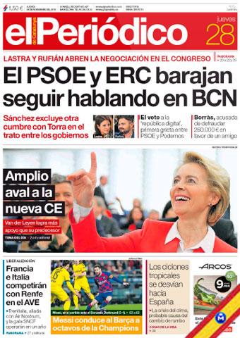 El Periódico de Catalunya 28 Noviembre 2019 [Español] [Up-4Ever] El-Peri-dico-de-Catalunya-28-Noviembre-2019